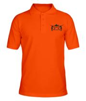 Футболка поло мужская Fortnite dancing logo
