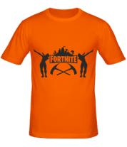 Мужская футболка  Fortnite dancing logo