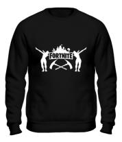 Толстовка без капюшона Fortnite dancing logo