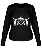 Женская футболка с длинным рукавом Fortnite dancing logo