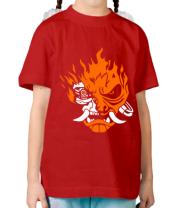 Детская футболка  Cyberpunk 2077 fire