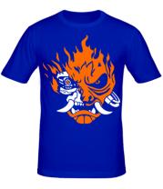 Мужская футболка  Cyberpunk 2077 fire