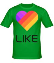 Мужская футболка  Likee mobile app