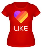Женская футболка  Likee mobile app