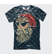 Детская футболка 3D Санта Хипстер