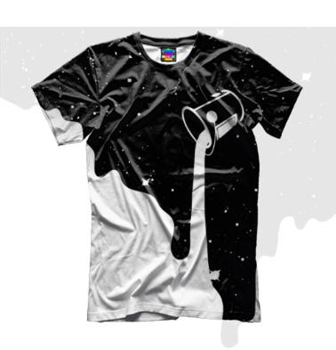 Мужская футболка 3D Краски