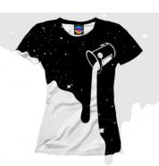 Женская футболка 3D Краски