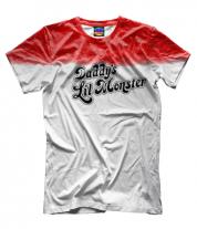 Мужская футболка 3D Daddy's Lil Monster