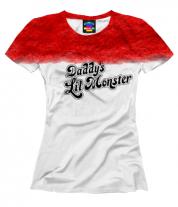 Женская футболка 3D Daddy's Lil Monster