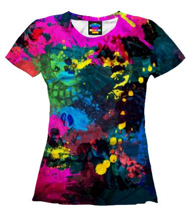 Женская футболка 3D Клякса