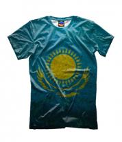 Детская футболка 3D Казахстан флаг