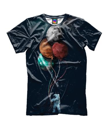 Детская футболка 3D Поездка в космос