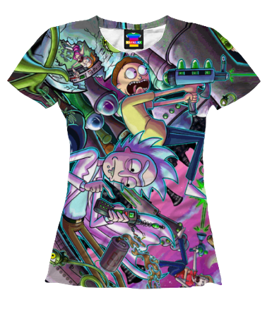Женская футболка 3D Рик и Морти