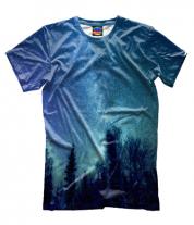 Мужская футболка 3D Звездная даль