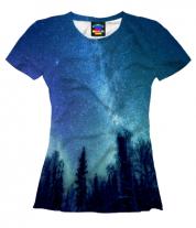 Женская футболка 3D Звездная даль