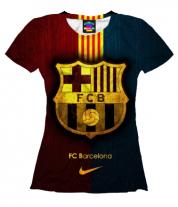 Женская футболка 3D Barсelona