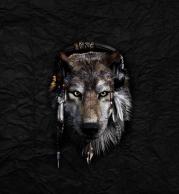 Мужская футболка 3D Волк в наушниках