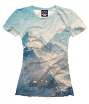 Женская футболка 3D Горы