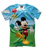 Мужская футболка 3D Mickey Mouse