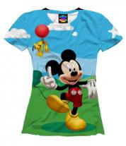 Женская футболка 3D Mickey Mouse