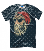Мужская футболка 3D Санта Хипстер