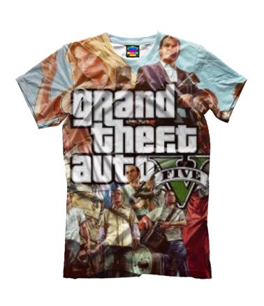 Детская футболка 3D GTA 5