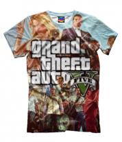 Мужская футболка 3D GTA 5