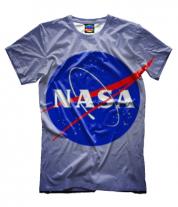 Мужская футболка 3D Nasa logo