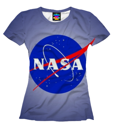 Женская футболка 3D Nasa logo