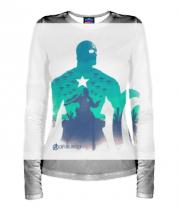 Женская футболка с длинным рукавом 3D Captain America