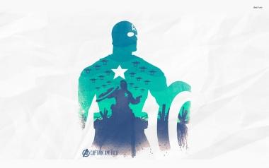 Женская футболка 3D Captain America