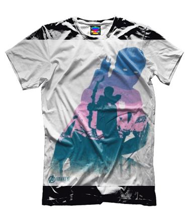 Мужская футболка 3D Hawkeye