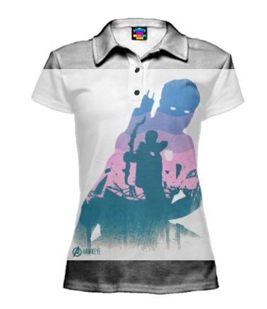 Футболка поло женская 3D Hawkeye