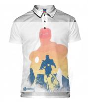 Футболка поло мужская 3D Iron Man