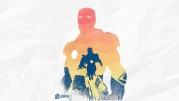 Мужская футболка с длинным рукавом 3D Iron Man