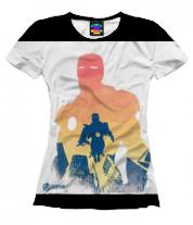Женская футболка 3D Iron Man