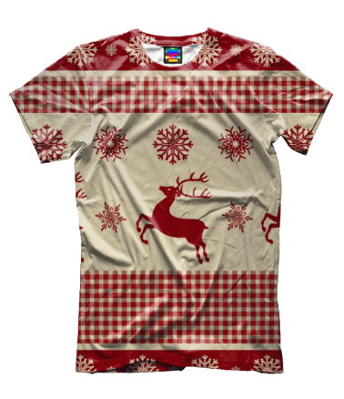 Мужская футболка 3D Олени