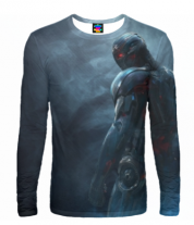 Мужская футболка с длинным рукавом 3D Ultron