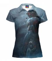 Футболка поло женская 3D Ultron