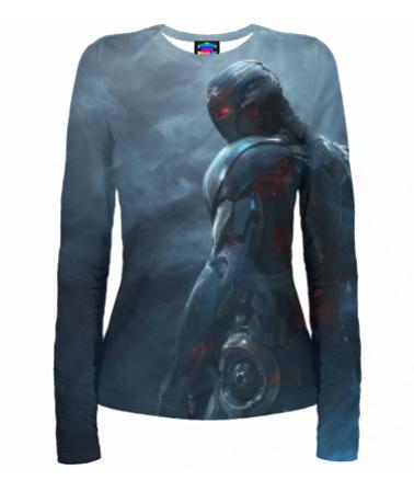 Женская футболка с длинным рукавом 3D Ultron