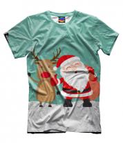 Мужская футболка 3D Новый год!