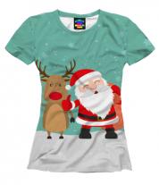 Женская футболка 3D Новый год!
