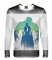 Мужская футболка с длинным рукавом 3D Hulk