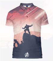 Футболка поло мужская 3D Thanos