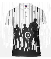 Футболка поло мужская 3D Мстители