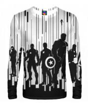 Мужская футболка с длинным рукавом 3D Мстители