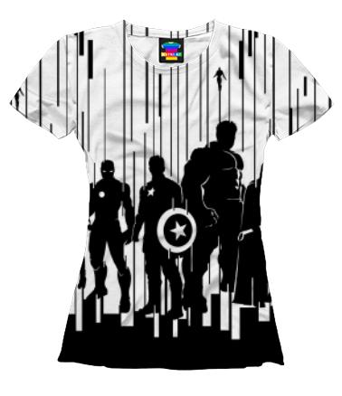 Женская футболка 3D Мстители