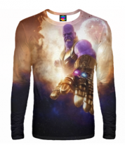 Мужская футболка с длинным рукавом 3D Thanos