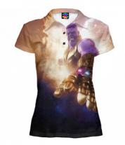 Футболка поло женская 3D Thanos