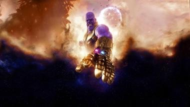 Женская футболка с длинным рукавом 3D Thanos